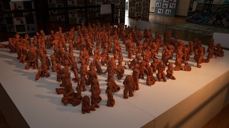 The clay figures portray unique narratives as seen through the eyes of children. Picture: Courtesy o