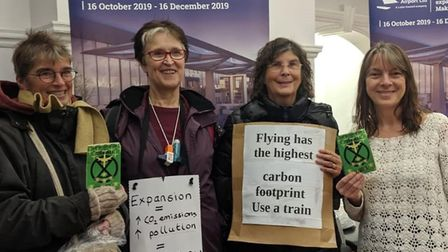 An alliance of campaigners - including members of North Herts Extinction Rebellion - took a stand ag