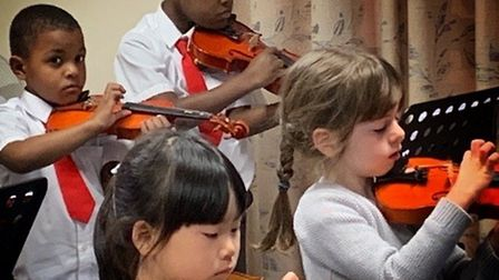 The children who have attended the Dorothy Wells Strings Foundation in Hitchin have showed off their