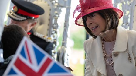 The Lord Lieutenant of Hertfordshire and 11 Deputy Lieutenants visit Lonsdale School to celebrate Br