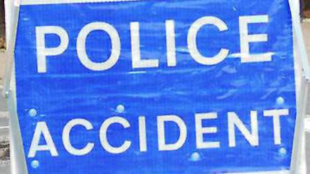 A driver was treated by medics after her car crashed head-on into a tree. Picture: Archant