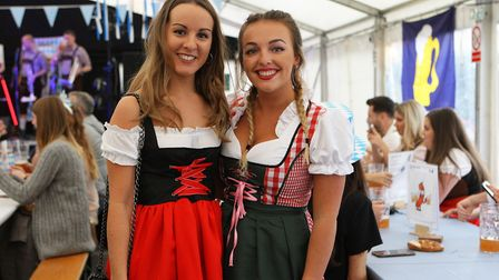 Becky Roydhouse and Harri Long enjoy the beer festival. Picture: Karyn Haddon