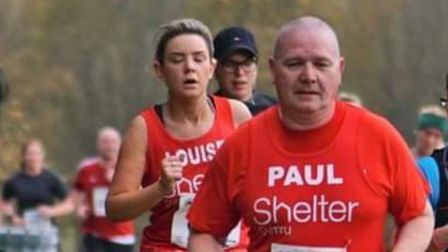 Paul Scanlon, pictured running for Shelter at the 2018 Stevenage Half Marathon, has shared his story