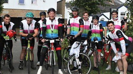 A group of Govia Thameslink Railway workers braced the elements cycling 90 miles for the Prince's Tr