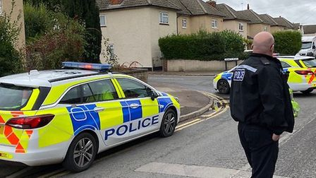 The whole street was cordoned off while police identified the object. Picture: Michael Brookes