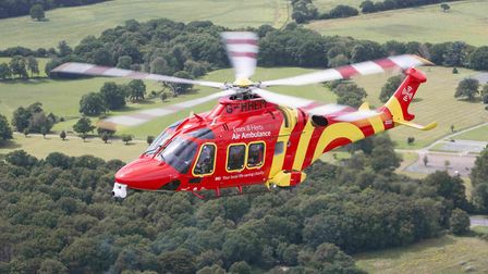 Essex and Herts Air Ambulance attended Wedgwood Way in Stevenage, but sadly the man passed away. Pic