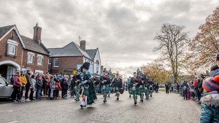 Stevenage's Remembrance Sunday service in the Old Town. Picture: Margesson Photography