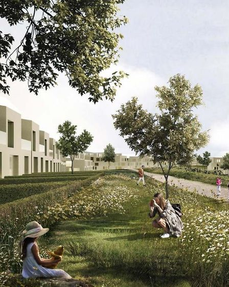An artist's impression of the genome campus at Hinxton. Picture: CONTRIBUTED