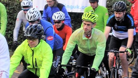 Riders set off from a previous Emitremmus event. Picture: Stevenage Cycling UK.