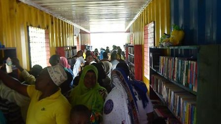 Just Be A Child's fourth library in Kenya is proving popular. Picture: Lenka McAlinden.