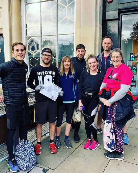 Hitchin 'plogging' group joined in the fun with their debut event. Picture: Rachel Campbell