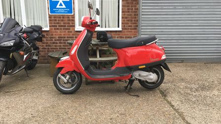 The red Vespa moped went missing on Monday, October 28. Photo: CONTRIBUTED