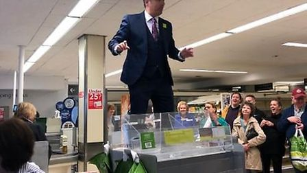 Heartfelt speeches formed part of the final moments Waitrose in Stevenage Old Town remained open. Pi