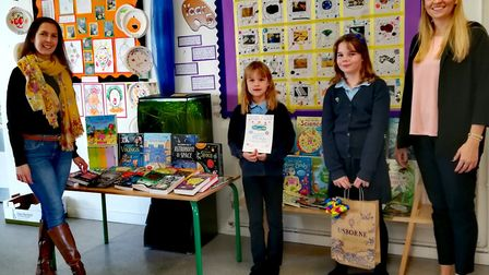 Children at Stonehill school in Letchworth have received nearly 3,000 new books after completing a s