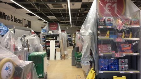 The store was forced to close after water leaked through the ceiling, affecting produce and electric