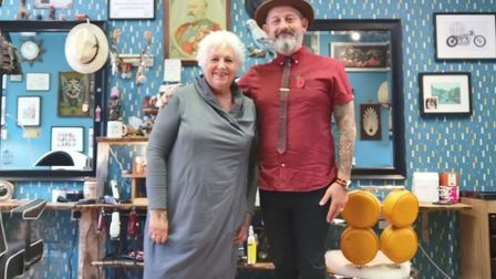 66-year-old Teresa Richards had a melanoma on her crown discovered by her hairdresser. Picture: Tere