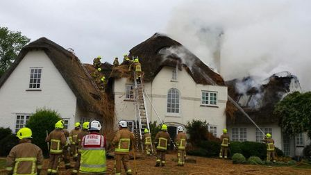 It is not the first time firefighters have tackled a blaze at Node Court in Codicote - with crews pi