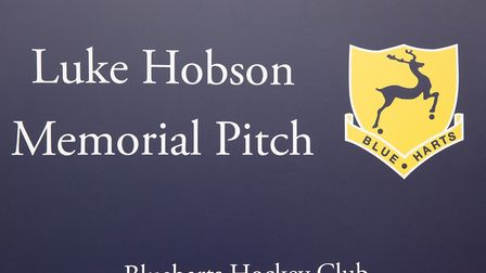 Blueharts Hockey Club in Hitchin has dedicated a new astro-turf pitch to junior player Luke Hobson w