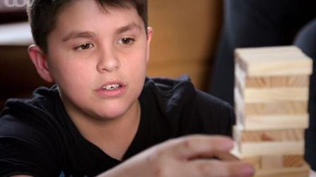 When he was six, Noah suffered from a life-threatening brain abscess. Picture: ITV
