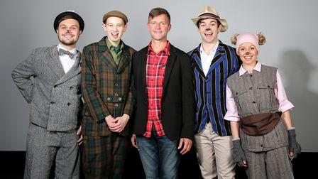 The cast of Letchworth Broadway Theatre's Christmas production of The Wind in the Willows with produ