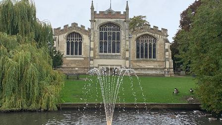 The Sir Ian Dixon fountain officially re-opened last week. Picture: Hitchin BID