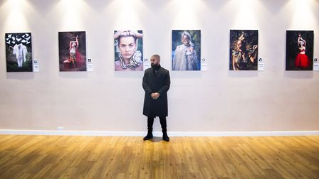 Stevenage born Faysal Hassan has unveiled his 'Fair Lands of Freedom' exhibition at The Gordon Craig
