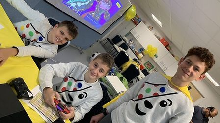 The 16 Shefford school friends raised over £3,000 for Children in Need. Picture: Su Careem