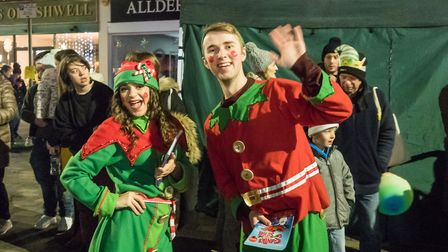 Last year's Christmas lights switch on. Picture Gary Walker