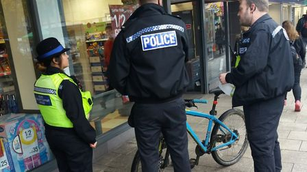 Stevenage neighourhood police officers have cracked down on anti-social cycling in the town centre.
