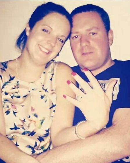 Hannah Cowlishaw and Henry Matthews, pictured in December 2014 after getting engaged, have brought t