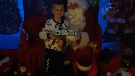 Ethan Martin at Keech Hospice Care's Christmas party. Picture: Hannah Cowlishaw