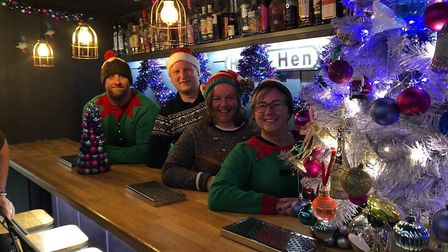 The Baldock Beer Festival committee have been helping set up the annual Christmas Fayre this year, w