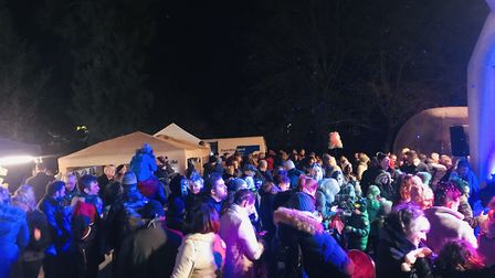 More than 400 people attended the switch-on. Picture: Courtesy of Darren Gilbert
