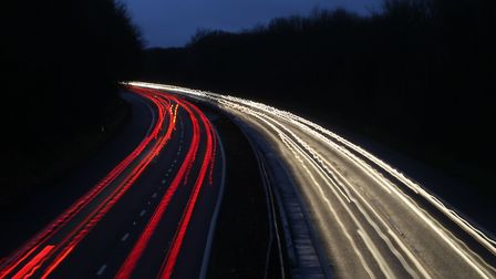 One lane of the A1(M) has been closed after a crash between the Stevenage and Letchworth Gate juncti