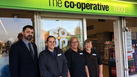 Co-op staff at Symonds Green were in great spirits this morning, welcoming customers for the first t