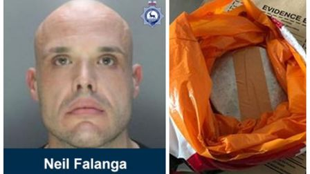 Neil Falanga has been jailed for six years for dealing class A drugs as part of a gang. Police seize