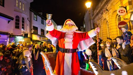 Hitchin Market Place was full of festive spirit on Saturday at the town's Christmas lights switch-on