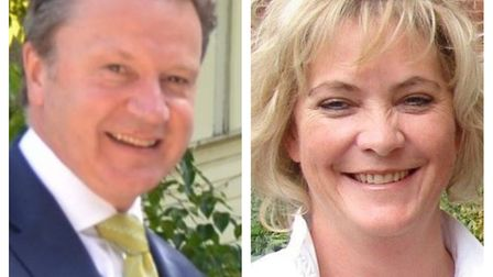 Tim Litchfield and Frances Manning, headteachers of The Knights Templar School and Hitchin Girls' Sc