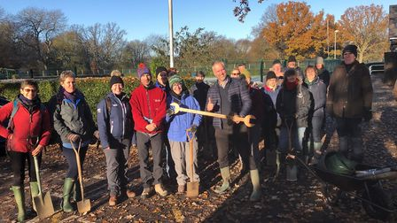 Friends of Norton Common have been planting trees around the Letchworth Nature Reserve, Picture: Fri