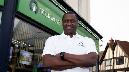 Emile Heskey was in Hitchin this afternoon launching Your Move's partnership with EFL. Picture: Andr