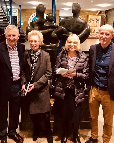 Former Barclay teachers Merv Smith, Gill Harwood, Ann Beaumont and Richard Wallace. Picture: Mandy P