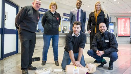 Demonstrations on how to use a defibrillator took place during the launch at WGC railway station. Pi