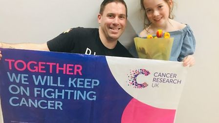 Lyla Thompson-Wells raised more than £1,000 for Cancer Research UK. Picture: Adam Wells