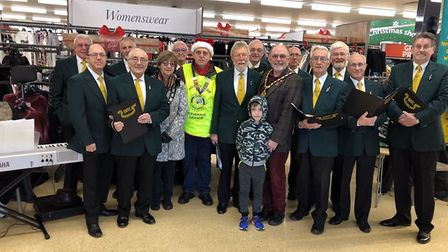 Stevenage Male Voice Choir entertained Sainsbury's customers and staff with a medley of Christmas cl