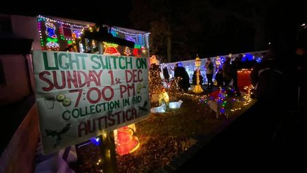 Freda Marsh has been raising money by decorating her family home in Leaves Spring since 2011. Pictur