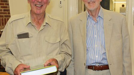 Trevor (right) with the late Bryan Sage, a distinguished naturalist and former president of the Hert