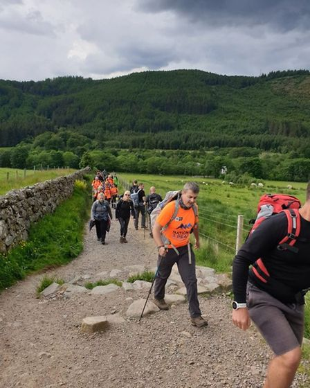 Fourteen trekkers taking on the Three Peaks Challenge for Garden House Hospice. Picture: GHHC