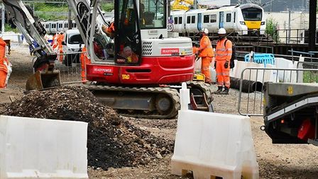 Planned work along the East Coast main line will start this weekend. Picture: Network Rail