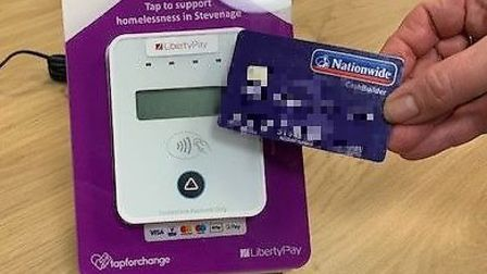 The new initiative allows members of the public to donate £3 to Stevenage Haven via their debit or c