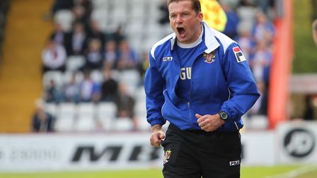 Graham Westley on the sidelines